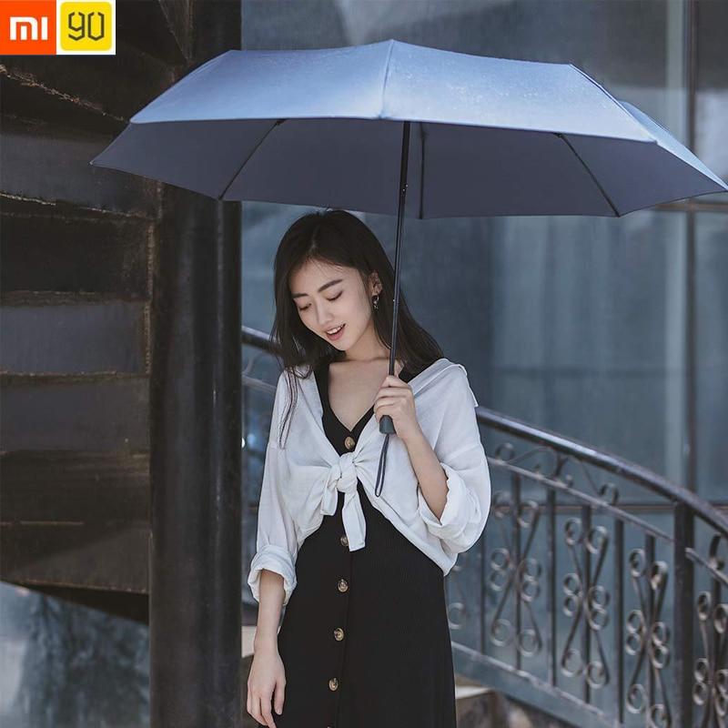 Xiaomi-90Fun-Men-Women-Umbrella-Three-Folding-Sun-Umbrella-Sun-Protection-UV-Ultralight-Big-Umbrella-UPF40